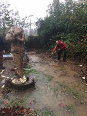 Days before its official opening, The Haunted Trail was swept away by severe flooding.