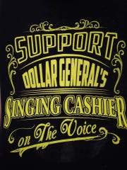 "Employees of a Dollar General store in south Lansing wear shirts while on the job to support their colleague Lucas Holliday. Here's a look at what the front of the shirts look like. Last week, Holliday got past the battle round of NBC's ""The Voice."""