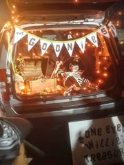 Checking out elaborately decorated cars is part of the fun at Halloween trunk-or-treat events.