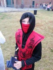 Austin Chandler in his 2013 Halloween costume.