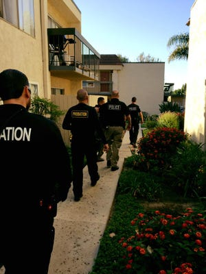On Friday, a sex offender compliance check was conducted by officers from the Ventura Police Department, Simi Valley Police Department, the Federal Bureau of Investigation, the Department of Homeland Security and the County Probation Office.