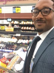 Micah Bennett, owner of HV Concierge Services, goes grocery shopping for a client, one of the many services offered by the local company.