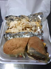 Cheeseburger Po Boy and Cajun Fries