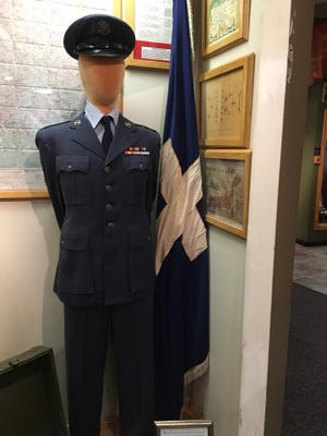 The photos posted on Oct. 17 were of an exhibit in the museum's Korean War section, and includeda mannequin of an airman standing next to a Christian chapel flag with a framed sign explaining the significance of the flag.