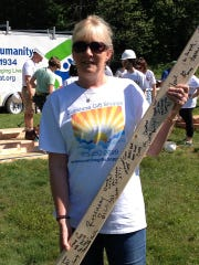 Roxbury Twp. resident Joann Matthias and owner of Sunshine Gift & Consignment at a Habitat for Humanity fundraiser.