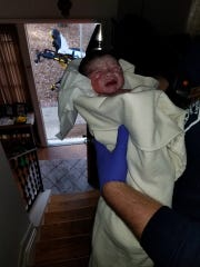 Ethan Riley Waylon Perkins was delivered at home by Salisbury Fire Department paramedics on Tuesday, Nov. 14, 2017.