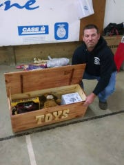 Each year Jake Birkhimer builds a wooden toy box and