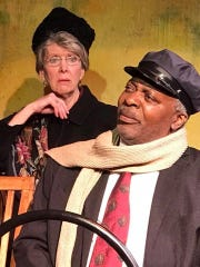"""Julie Bloodworth and Erik Kilpatrick in Springfield Contemporary Theatre's new production of """"Driving Miss Daisy,"""""""