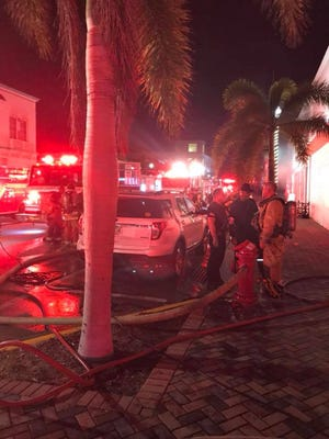 The St. Lucie County Fire District responds to a structural fire on Avenue A in Fort Pierce on Wednesday night, Nov. 29, 2017.