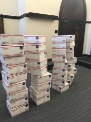 Forty care packages were assembled as part of Mississippi
