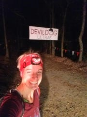 Waynesboro's Rheeanna Walters, 41, completed her longest ultra-marathon when she finished the Devil Dog 100K in 15:56:56.