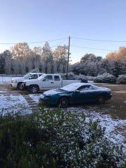 Snow in Molino in Escambia County, near the Florida/Alabama