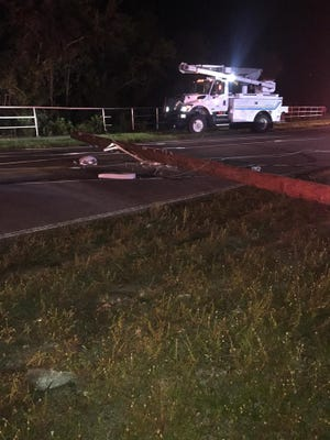 Titusville Fire Rescue responded to a crash involving a vehicle and a pole.