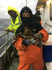 A fisherman on the 125-foot Jamaica reeled in a lobster