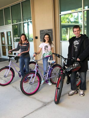 An anonymous donor gave six brand news bikes to middle school children.