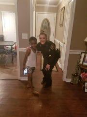 Officer Lauren Develle and TyLon Pittman, who called