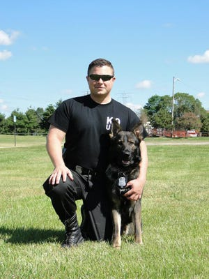 Port Huron Police Officer Chad Smith and Blaze