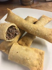 Cheesesteak eggrolls at blueplate will also be featured as bar bites at Center Square Tavern in Woolwich. Chef James Malaby's version are made from This is chipped steak with cheese, rolled in fresh pasta and fried and served with caramel- tomato dipping sauce.
