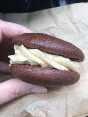 A peanut butter chocolate whoopie pie from Seed to