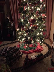 Elf took the train Christmas morning. The kids enjoyed