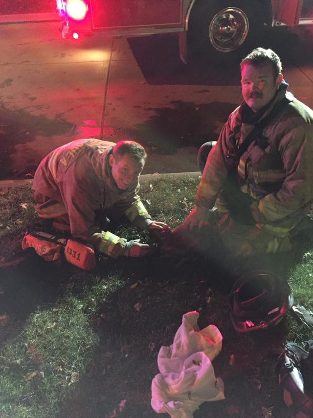 Firefighters warn about the danger of burning plastic and