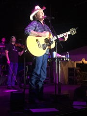 Country music star Tracy Lawrence performs Feb. 12, 2017, at the Martin County Fair in Stuart.