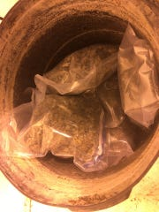 Police found more than 20 pounds of packaged marijuana.