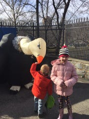 Children play at the Brandywine Zoo's annual Noon Year's