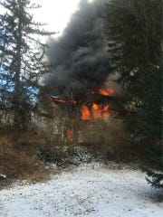 Fire officials dealt with a house fire in the 7200