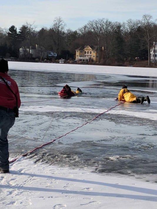 Mountain Lakes ice rescue