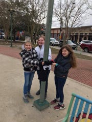Ten-year-olds Sidney Miller, Olivia Lovas and Grace