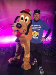 Eric DeMuth, of Hagerstown (Md.), poses for a photo shortly before taking on the half marathon at last weekend's Walt Disney World Marathon Weekend.