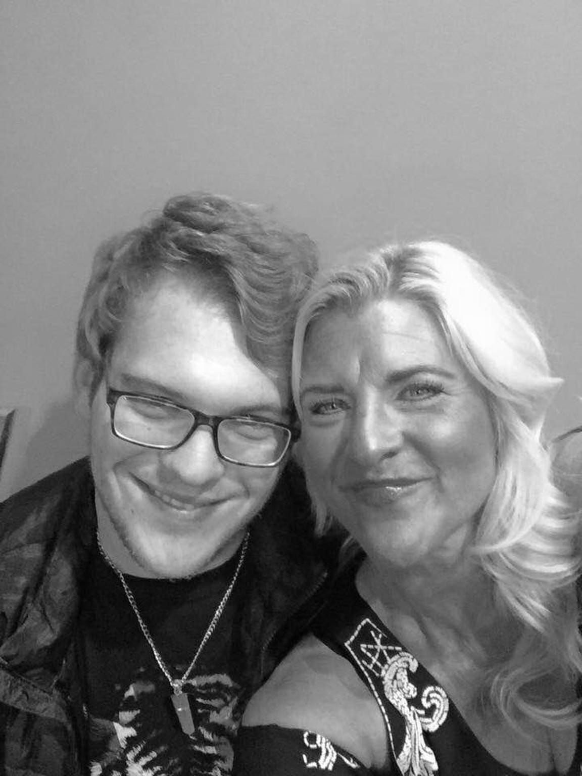 Pamela Knight and her son, Connor.