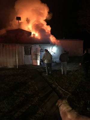 Fire destroyed Larry Miller's historic accordion shop Sunday night in Iota.