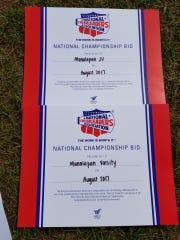 Manalapan High School National Championship Bids.