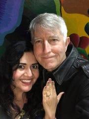 Corpus Christi muralist Sandra Gonzalez (left) and