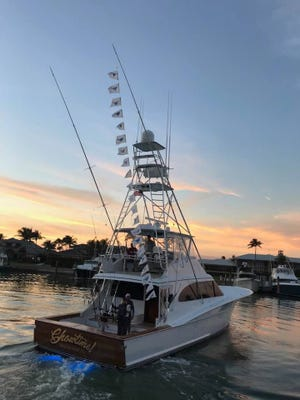 Showtime!, owned by Fred and Nancy Hardwick of Sailfish Point and skippered by Capt. Wink Doerzbacher, scored 21 sailfish releases out of 25 bites in just four hours of fishing time in January.