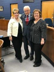 ElmwoodPark's newest councilwomen Lorraine Pellegrine and Sandy Balistrieri were sworn in on Jan.2by Congressman Bill Pascrell Jr.