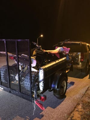 Martin County deputies recovered a stolen ATV and trailer after a traffic stop.