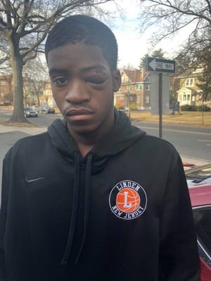 Shakim Bibby was allegedly punched at the end of the Linden vs. Plainfield high school basketball game Tuesday night.