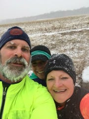 Members of the Chambersburg Beer Runners took on the Groundhog Almost Half in Gettysburg last weekend. After 12-plus miles and four inches of snow, the group finished in Emmitsburg, Md.