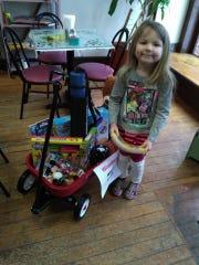 Six-year-old Chloe Barnett of Tiffin won the raffle