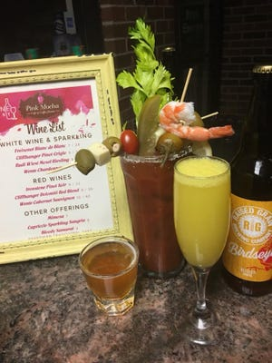 Pink Mocha currently has a beer and wine license, which it uses to make sake bloody marys and mimosas.