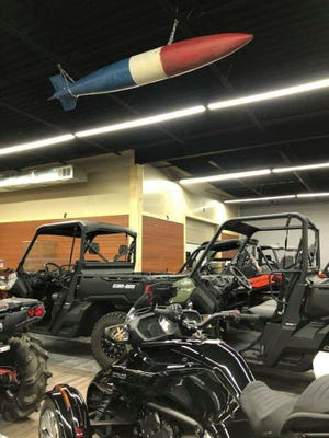 Pitbull Powersports is hosting a flag raising ceremony at noon Saturday to honor veterans and celebrate its new location at 3114 W. Sunshine St.