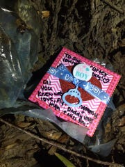Amber Miorana buried her son, Carter, in this box.