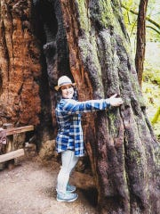 Hiking in Muir Woods outside of San Francisco
