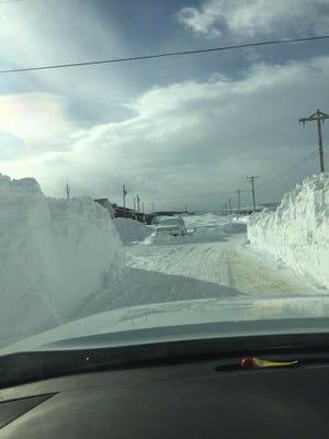 Street scene on the Blackfeet Indian Reservation