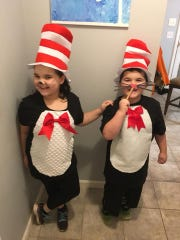 Evie and Emmett Basting are the Cat's meow for Seuss