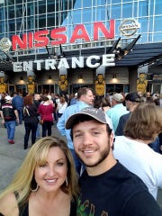Heather and Sonny Melton attend a rock show at Bridgestone