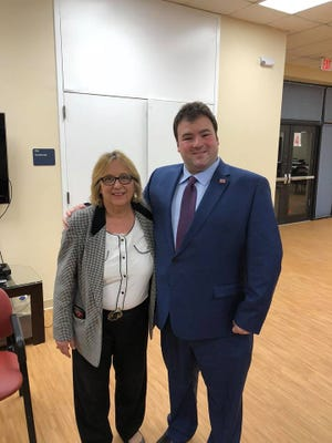 District 12 Republican Congressional candidate Daryl Kipniswith Middlesex County Republican Organization Chairman Lucille Panos.